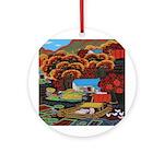 Rural Farm Ornament (Round)