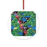 Village Procession Ornament (Round)