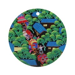 Village Procession Ornament (Round)