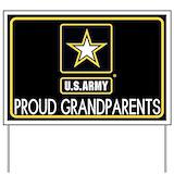 Proud grandpa army Yard Signs