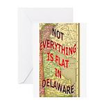 Flat Delaware Greeting Card