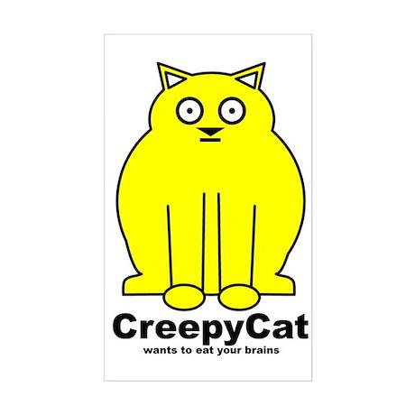 Creepy Cat Rectangle Sticker