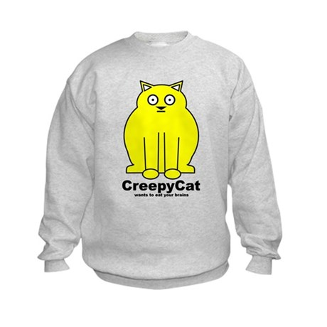 Creepy Cat Kids Sweatshirt