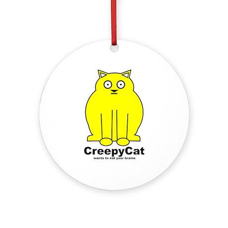 Creepy Cat Ornament (Round)