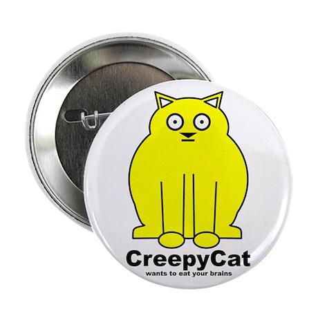 "Creepy Cat 2.25"" Button"