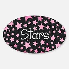 Stars - Pink on Black Decal