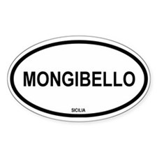 Mongibello (Mt. Etna) Oval Decal