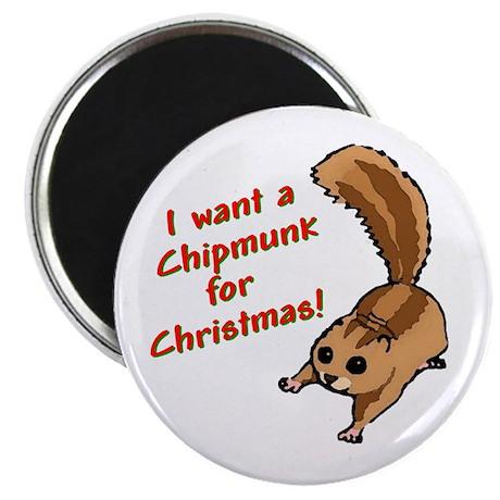 Christmas Chipmunk Magnet