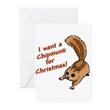 Christmas Chipmunk Greeting Cards (Pk of 10)