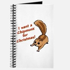 Christmas Chipmunk Journal