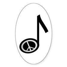 Peace note Oval Decal