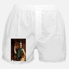 The steampunk lady with clocks and gears Boxer Sho