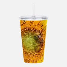 Sunflower & Bee Acrylic Double-wall Tumbler