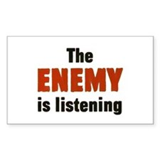 The Enemy Is Listening Rectangle Decal