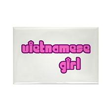 Vietnames Girl Cute Rectangle Magnet