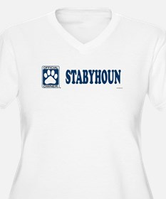 STABYHOUN Womes Plus-Size V-Neck T-Shirt
