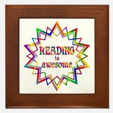 Reading is Awesome Framed Tile
