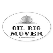 Rig Mover Oval Bumper Stickers