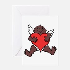 African Cupid Valentine Love Greeting Cards