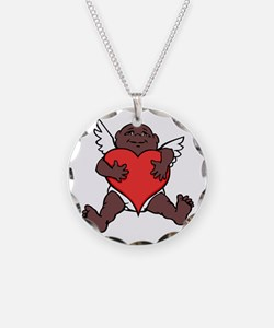 African Cupid Valentine Love Necklace