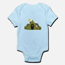 Grizzly Bear Camping Body Suit