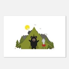 Grizzly Bear Camping Postcards (Package of 8)