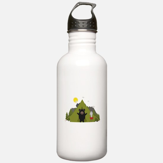 Grizzly Bear Camping Sports Water Bottle