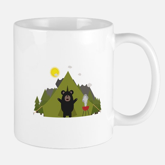 Grizzly Bear Camping Mugs