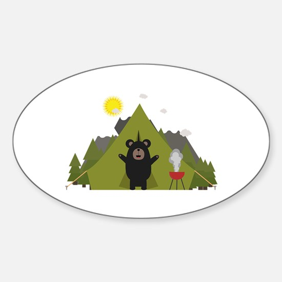 Grizzly Bear Camping Decal
