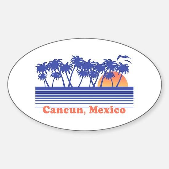 Cancun Mexico Sticker (Oval)