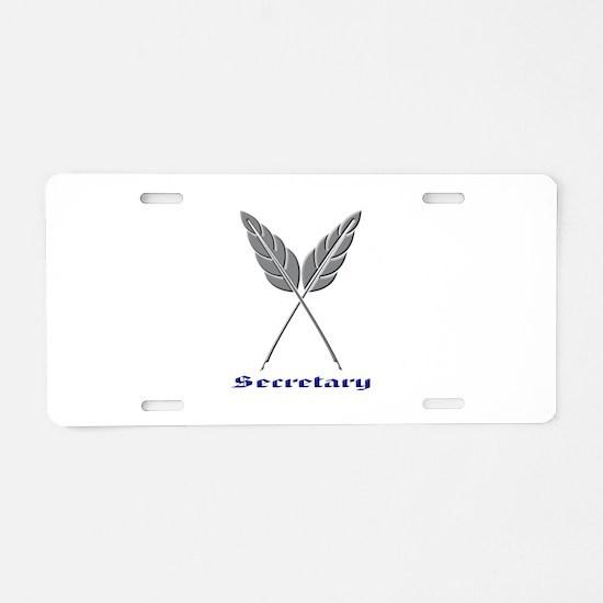 Secretary Aluminum License Plate