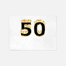50 (Flames) 5'x7'Area Rug