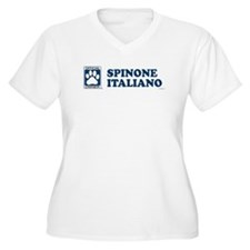 SPINONE ITALIANO Womes Plus-Size V-Neck T-Shirt