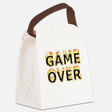 Game Over (Flames) Canvas Lunch Bag