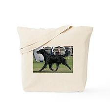 Cute Flat coat retriever Tote Bag