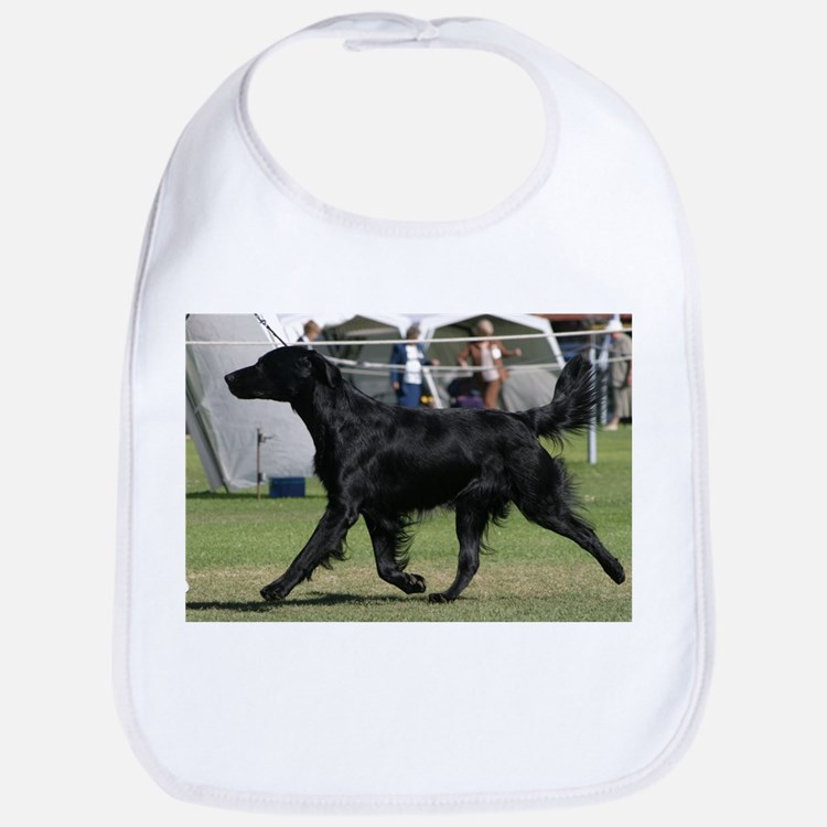 Cute Flat coated retriever Bib