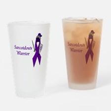 Funny Purple awareness Drinking Glass