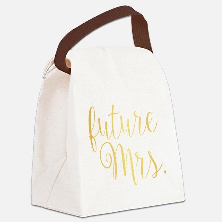 Cute Future mrs Canvas Lunch Bag