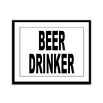 Beer Drinker Framed Panel Print