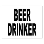 Beer Drinker Small Poster