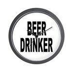 Beer Drinker Wall Clock
