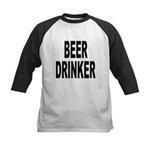 Beer Drinker Kids Baseball Jersey