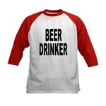 Beer Drinker (Front) Kids Baseball Jersey