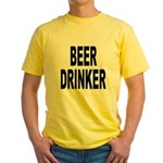 Beer Drinker (Front) Yellow T-Shirt