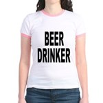 Beer Drinker (Front) Jr. Ringer T-Shirt
