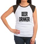 Beer Drinker (Front) Women's Cap Sleeve T-Shirt