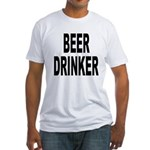 Beer Drinker (Front) Fitted T-Shirt