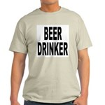Beer Drinker (Front) Light T-Shirt