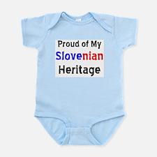 slovenian heritage Infant Bodysuit
