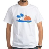 Cancun beach mexico Mens Classic White T-Shirts